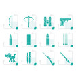 stylized hunting and arms icons vector image