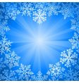 snow frame vector image