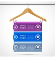 Clothes hanger sale infographics vector image vector image