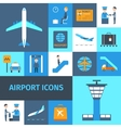 Airport Decorative Icons Set vector image