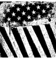 American Flag Background Grunge Aged Template vector image vector image