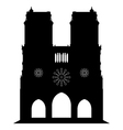 notredame of cathedral in Paris vector image