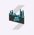 big city banner with ribbon bauhaus style vector image