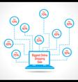 Biggest Online Shopping Sale concept vector image