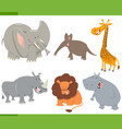 cute safari animals set vector image
