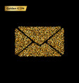 envelope gold icon vector image