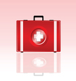 first aid bag vector image