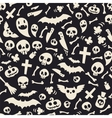 Halloween Symbols Seamless Pattern Contrast vector image