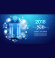 happy new year background poster decorated with vector image