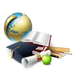 Objects for graduation ceremony vector image