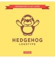 Smiling nice hedgehog outline welcomes flat style vector image