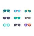 sunglasses icon set cartoon style vector image