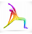 Yoga pose Abstract color over white background vector image