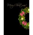Realistic christmas wreath vector image vector image