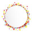 label on star confetti vector image