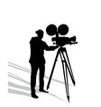 Camera man on white vector image