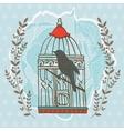 Bird in cage vector image vector image