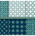 Set of circle seamless patterns vector image