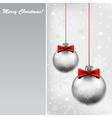 Silver bals vector image vector image