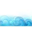 abstract background with stylized waves vector image vector image