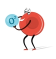 Red Blood Cell with Oxygen Cartoon vector image