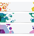 abstract geometry colorful banner header vector image