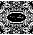 Black and white lace design vector image