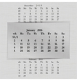 calendar month for 2016 pages January start Monday vector image