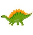 Cartoon stegosaurus vector image