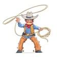 Cowboy with lasso American vector image