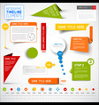 infographic timeline elements template vector image