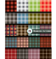 plaid seamless pattern pattern swatches included vector image