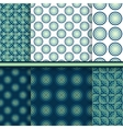 Set of circle seamless patterns vector image
