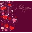 Cute Valentine love congratulation card vector image