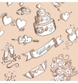 Seamless background with wedding design elements vector image vector image