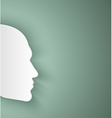 paper human face vector image