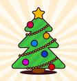 Kawaii Christmas tree vector image
