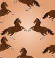Seamless texture of brown horse jumping vector image