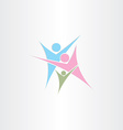 child mother father family logo icon design vector image