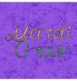 handwritten lettering Mardi Gras or Shrove vector image
