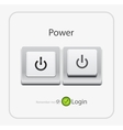 power key vector image vector image