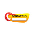 contact us sign vector image