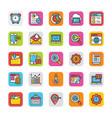 digital and internet marketing icons set 6 vector image