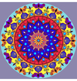 Mandala decoration isolated design element Zentang vector image