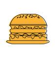 sandwich food icon image vector image