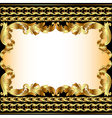 vintage background with gold pattern vector image
