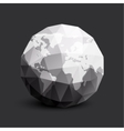 Isolated abstract black and white earth logo vector image
