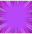 Manga comic book flash purple explosion radial vector image