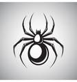 Black spider emblem vector image