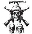 Skull army vector image